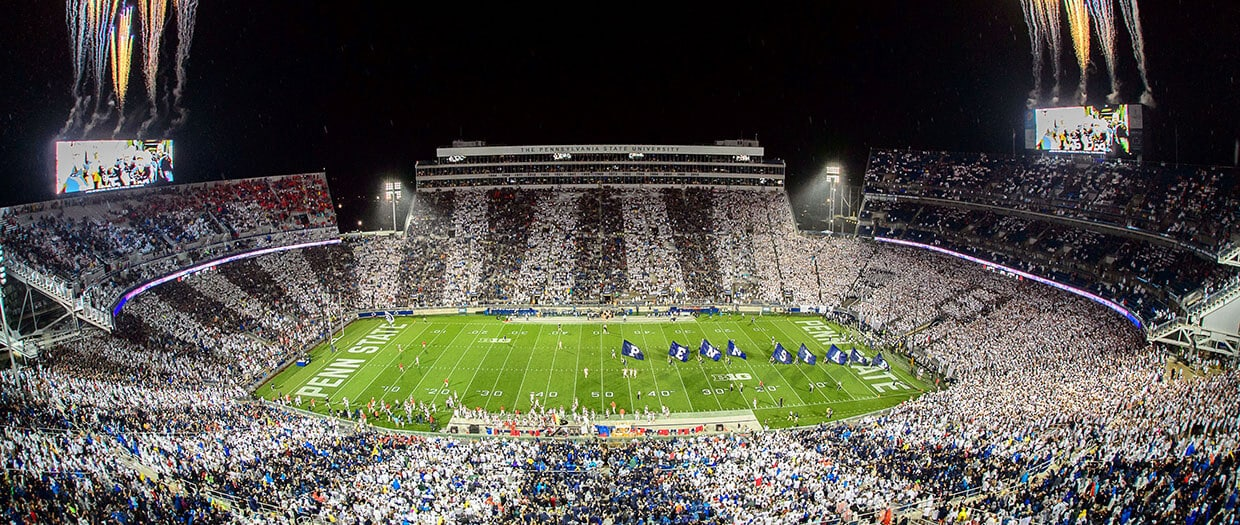 beaver stadium night time