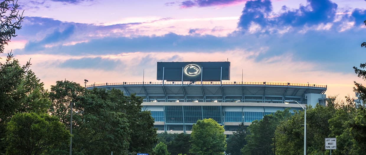 beaver stadium sunset