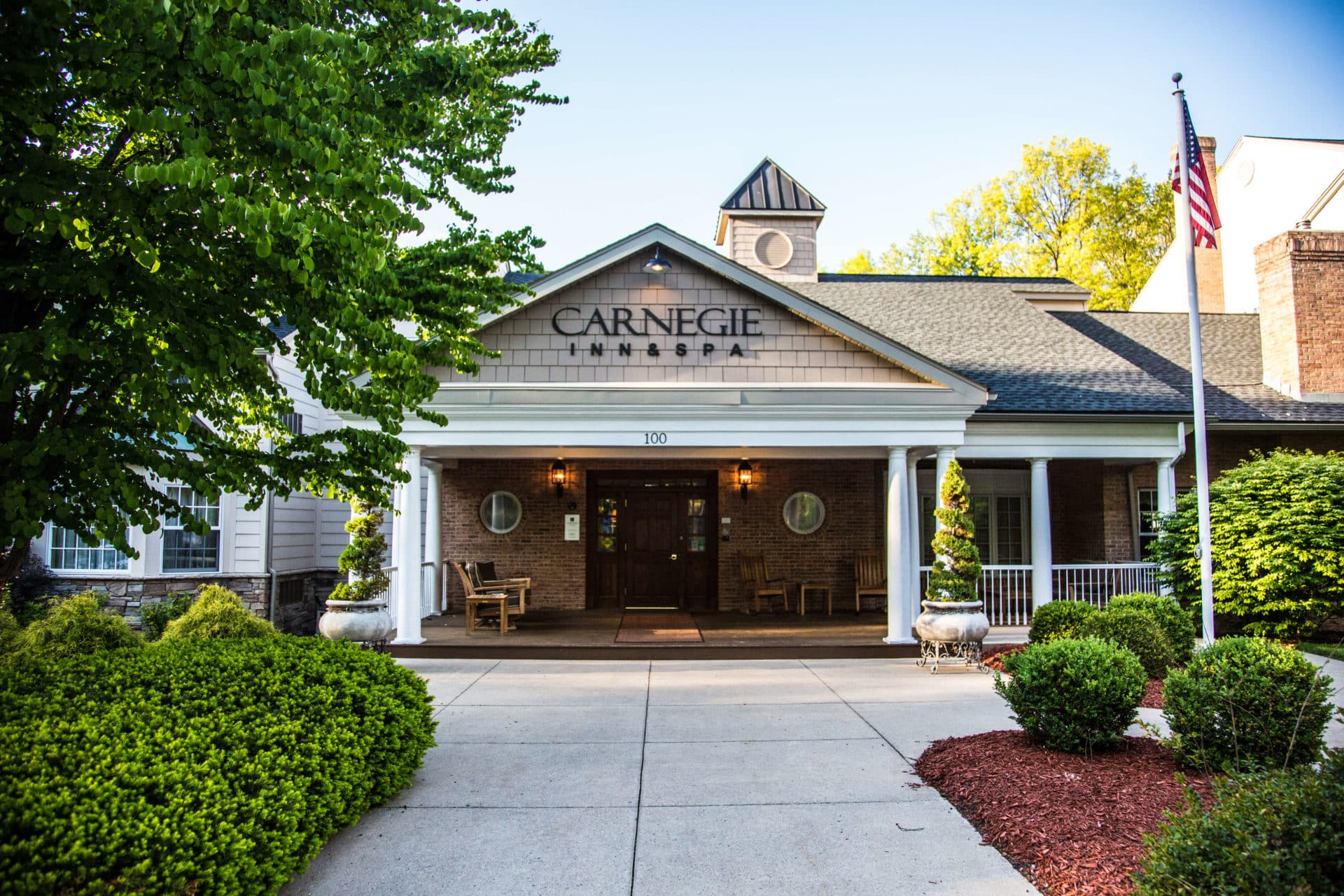 Hotel Entrance for Carnegie Inn and Spa