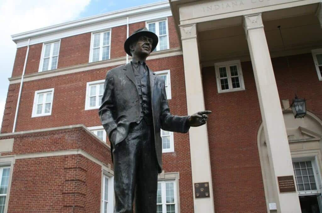 Statue of Jimmy Stewart in Indiana PA
