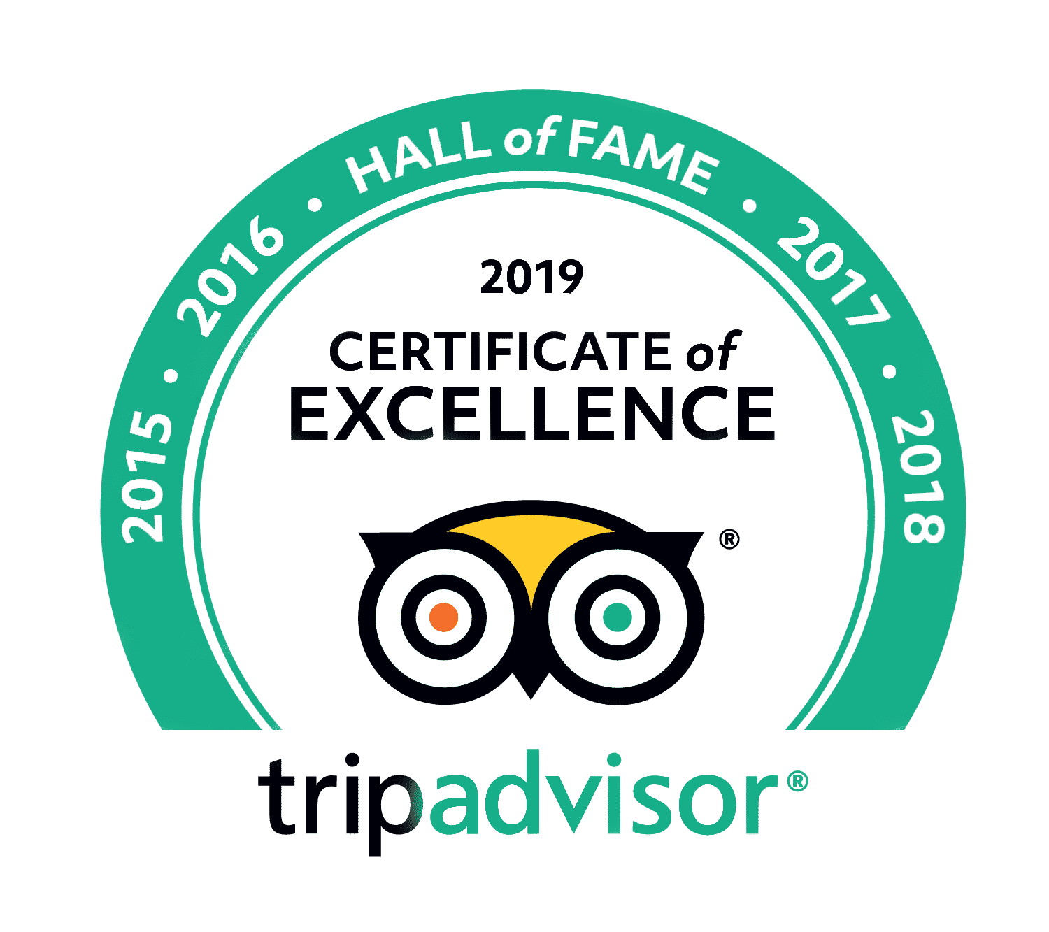 2019 TripAdvisor Hall of Fame logo